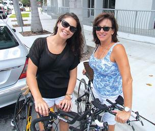 Daughter Katie McKeever and mother Sherry Bellomo are triathlon competitors.