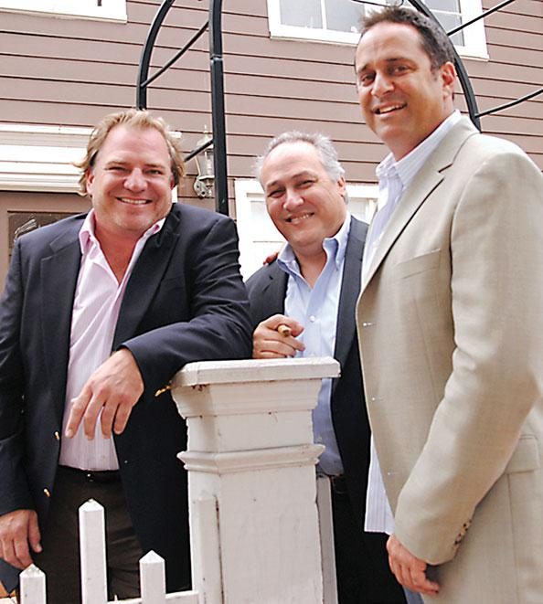 Paul Hughes, Raul Alvarez Jr. and Karl Alterman at The Veranda