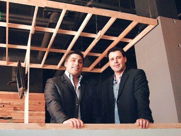 Vito Badalamenti (left) and partner Bosco Lazic at Loft 55