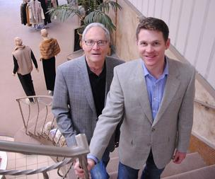 Father-and-son Art and Todd LaBellman of LaBelle Furs & Outerwear Co.