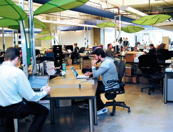 An uptick in revenue and clients is allowing Voxeo Corp. to continue to add workers at its downtown Orlando offices in The Plaza.