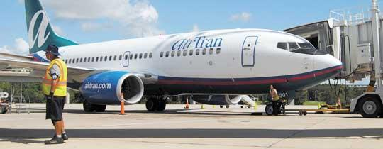 AirTran will begin service from Baltimore to Aruba.