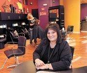 Sizzors Salon owner Nancy Marion