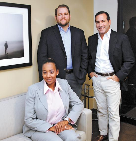 Eureka Davis, Stephen Pickens and T. Lee Cutler of Kre8 Media