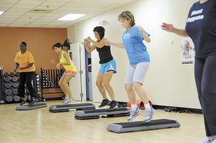 Florida Hospital employees in an afternoon exercise class