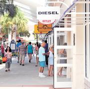 Tourists, on average, spend about $330 perp person per trip on shopping while in Orlando.