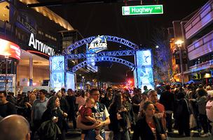 Fans outside the Amway Center after the 2012 NBA All-Star Game