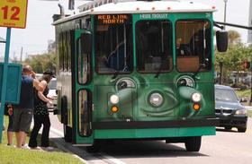 The I-Drive trolley system serves up 2.06 million people annually.