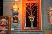 Hundreds of folk art pieces from the House of Blues collection decorate the bar and concert hall.