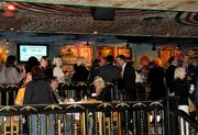 Tables fill and space at the bar is scarce as the evening progresses and the crowd builds.