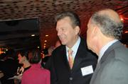 Orlando Business Journal Publisher Martin Lewis meets guests at the Book of Lists Party.