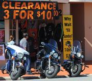 If only the sign meant the bikes were three-for-$10.