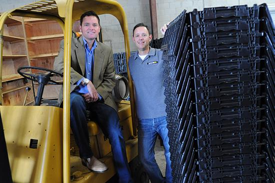 Division 1-25 Employees Top Winner: Bungo Box, a Casselberry firm that rents out plastic moving bins and was co-founded by cousins Bob (left) and Tom Cannon (right).