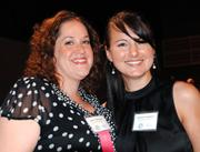 Isabel Velasquez and Lee Anne Daughtry of Intervention Services.