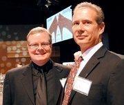 Tom Buck of the David Maus Foundation and Mark Ornstein of KPSO.