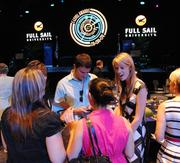 A crowd gathers in the reception room at Full Sail Live.