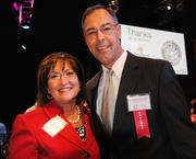 Orange County Mayor Teresa Jacobs and J. Thomas Chandler of SchenkelShultz Architecture.