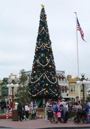 "Disney takes the phrase ""go big or go home"" to new heights with the Christmas tree on Main Street USA."