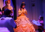 Guests are given roles in a play that is performed for Belle herself inside Enchanted Tales with Belle.