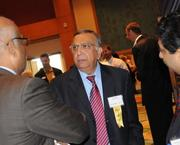 Dr Andy Vyas of Family Physicians Group speaks with other guests before the start of the Golden 100 awards event.