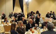 Guests enter the main ballroom for the awards luncheon.