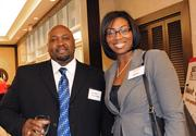 Joel Berry of the City of Orlando and Tonja Powell of the LBS Foundation were in the crowd for some pre-event networking.