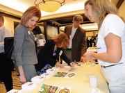 Guests could sign up for the Swamp House Half Marathon & 5K, which had an information table at the Healthiest Employer event.