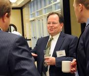 Jim Pratt of Burr & Forman LLP mingles before the awards event.