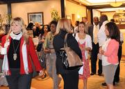 Guests make the most of networking time before the start of the awards event.