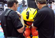 Only at IAAPA could Pac Man be at the center (pun intended) of a business meeting.