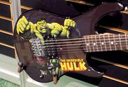 A new line of Marvel character guitars were a smashing success at the Peavy company booth.
