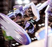 IAAPA guests risk their breakfast on a giant rotating swing made by Moser's Rides.