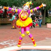 This performer was a crowd favorite, posing for and with many people.