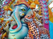 """This year's parade theme, """"Colorful Cultures Around the World,"""" is exemplified by the detail in the Elegance of India float."""