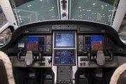 Inside view of a Pilatus plane.