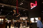 AVFuel entertain its exhibit visitors with a ribbon performers.