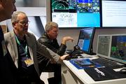A technical training system by Gulfstream was available for testing.