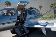 Cirrus Aircraft jets were open for touring.