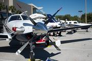 Piper Aircraft Inc. had four jets open for tours.