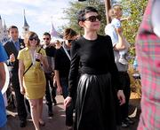 Random Ginnifer Goodwin sighting as she was making her way to Be Our Guest.