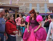 One of Cinderella's lovely step sisters entertained the building crowds with tales of stalking Gaston. We all have our fantasies.