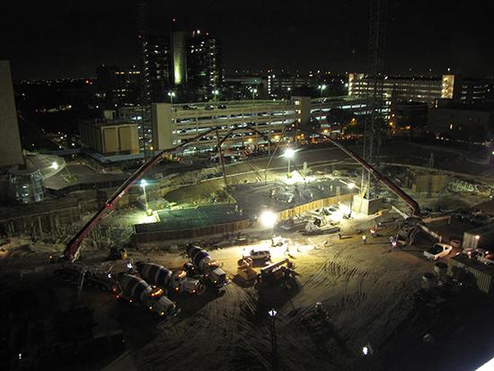 Orlando Health Inc. on Dec. 14 began pouring the foundation for its $297 million expansion project.