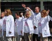 Nemours researchers, staff and volunteers were included in the dedication ceremony.