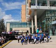 A youth dance troupe performed during the Nemours dedication ceremony.