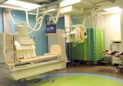 Rooms in the radiology department feature bright colors and kid-friendly design.