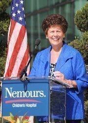 Toni Jennings speaks  during the Nemours dedication ceremony.
