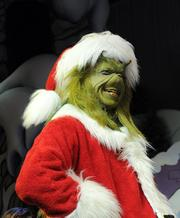 The Grinch made his appearance in grand Grinchy style.