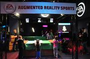 Augmented reality games were among EA Sports' displays at Otronicon. The technology incorporates real-time video scenery with digital elements.