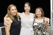 From left, Kimberly Cano, Becky Harrison and Michelle Chunat PBN's Pau Hana at The Modern Honolulu.