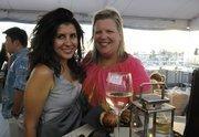 Selda Dodanli of GTA and Robin Harlow of Aqua Hotels & Resorts at PBN's Pau Hana at The Modern Honolulu.